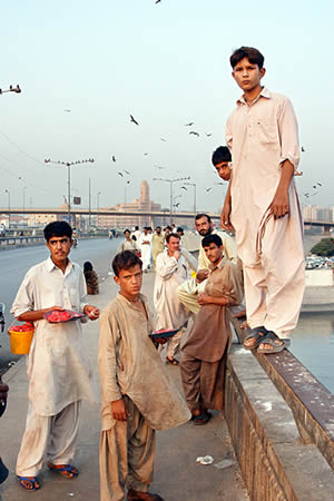 Karachi boys on Netty Jetty Bridge